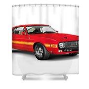 1969 Shelby Cobra Gt 500 Retro Sports Car Shower Curtain