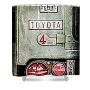 1969 Toyota Fj-40 Land Cruiser Taillight Emblem -0417ac Shower Curtain