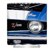 1969 Z28 Camaro Real Muscle Car Shower Curtain