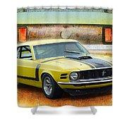 1970 Boss 302 Mustang Shower Curtain