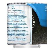 1970 Boss 429 Fact Placard Shower Curtain