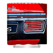 baa146c4 1970 Chevrolet Chevelle Ss Convertible Taillight Emblem Shower Curtain