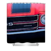 1970 Chevrolet El Camino Ss Grille Emblem Shower Curtain