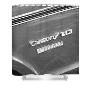 1970 Chevy Custom 350 Truck Bw Shower Curtain