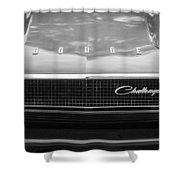 1970 Dodge Challenger Rt Convertible Grille Emblem -0545bw Shower Curtain