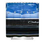 1970 Dodge Challenger Rt Convertible Grille Emblem -0545c Shower Curtain