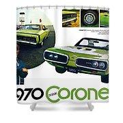 1970 Dodge Coronet R/t Shower Curtain