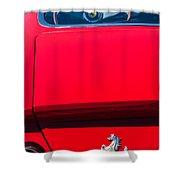 1970 Ferrari 365 Gtb-4 Daytona Berlinetta Taillight Emblem -1482c Shower Curtain