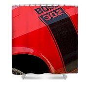1970 Ford Mustang Sportsroof Boss 302 Emblem Shower Curtain