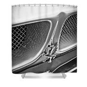 1970 Iso Rivolta Grifo Emblem  -0146bw Shower Curtain