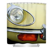 1970 Jaguar Xk Type-e Headlight Shower Curtain