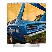 1970 Plymouth Road Runner Superbird Shower Curtain