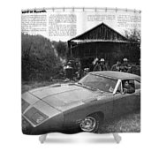 1970 Plymouth Superbird - Announcing A New Kind Of Runner Shower Curtain