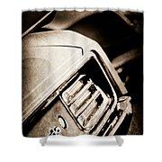 1970 Pontiac Barracuda Cuda Taillight Emblem Shower Curtain