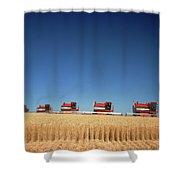 1970s Five Massey Ferguson Combines Shower Curtain