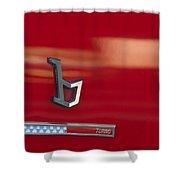 1971 Alfa Romeo Montreal Emblem Shower Curtain