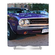1971 Challenger Front And Side View Shower Curtain