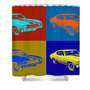 1971 Chevrolet Chevelle Ss Pop Art Shower Curtain