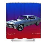 1971 Chevy Nova S S Shower Curtain