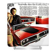 1971 Dodge Charger Rallye Shower Curtain