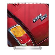 1971 Fiat 500 Jolly Taillight Shower Curtain