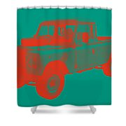 1971 Land Rover Pick Up Truck Modern Art Shower Curtain
