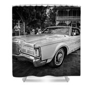 1971 Lincoln Continental Mark IIi Painted Bw   Shower Curtain