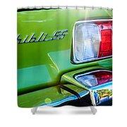1971 Maserati Ghibli 4.9 Ss Spyder Taillight Emblem -0187c Shower Curtain