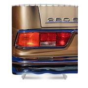 1971 Mercedes-benz 280se 3.5 Cabriolet Taillight Emblem Shower Curtain