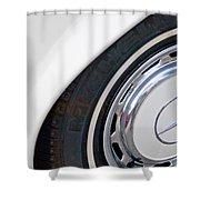 1971 Mercedes-benz Wheel Emblem Shower Curtain