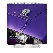 1971 Plum Crazy Purple Plymouth 'cuda 440 Shower Curtain by Gordon Dean II