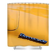 1971 Plymouth Barracuda Convertible Hood Emblem Shower Curtain
