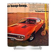 1971 Plymouth Road Runner Shower Curtain