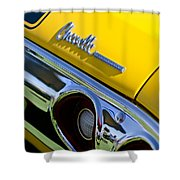 1972 Chevrolet Chevelle Taillight Emblem Shower Curtain