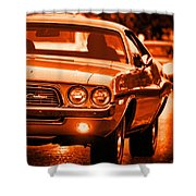 1972 Dodge Challenger In Orange Shower Curtain