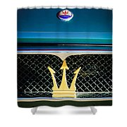 1972 Maserati Ghibli Grille - Hood Emblems Shower Curtain