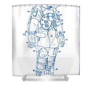 1973 Nasa Astronaut Space Suit Patent Art 2 Shower Curtain