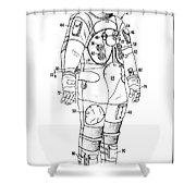 1973 Nasa Astronaut Space Suit Patent Art 3 Shower Curtain
