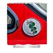 1974 Alfa Romeo Gtv Emblem  Shower Curtain