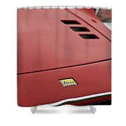 1974 Ferrari Dino 246gts Hood Emblem Shower Curtain