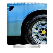 1974 Ferrari Dino Targa Gts Wheel Emblem Shower Curtain