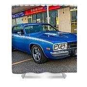 1974 Plymouth Roadrunner Shower Curtain