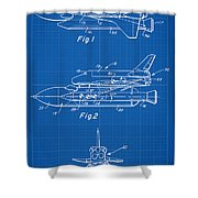 1975 Nasa Space Shuttle Patent Art 1 Shower Curtain