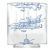 1975 Nasa Space Shuttle Patent Art 2 Shower Curtain
