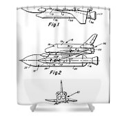 1975 Nasa Space Shuttle Patent Art 3 Shower Curtain