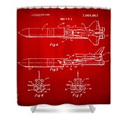 1975 Space Vehicle Patent - Red Shower Curtain
