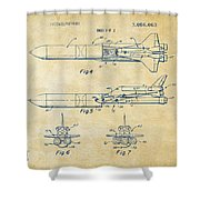 1975 Space Vehicle Patent - Vintage Shower Curtain