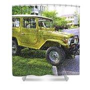 1976 Toyota Landcruiser Shower Curtain