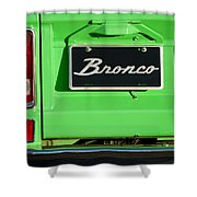 1977 Ford Bronco Taillight Shower Curtain