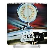 1979 Clenet Hood Ornament -176c Shower Curtain